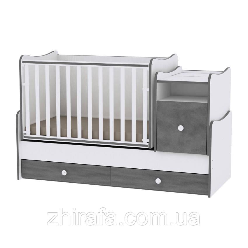 Детская кровать-трансформер 6 в 1 Trend White Vitnage Gray