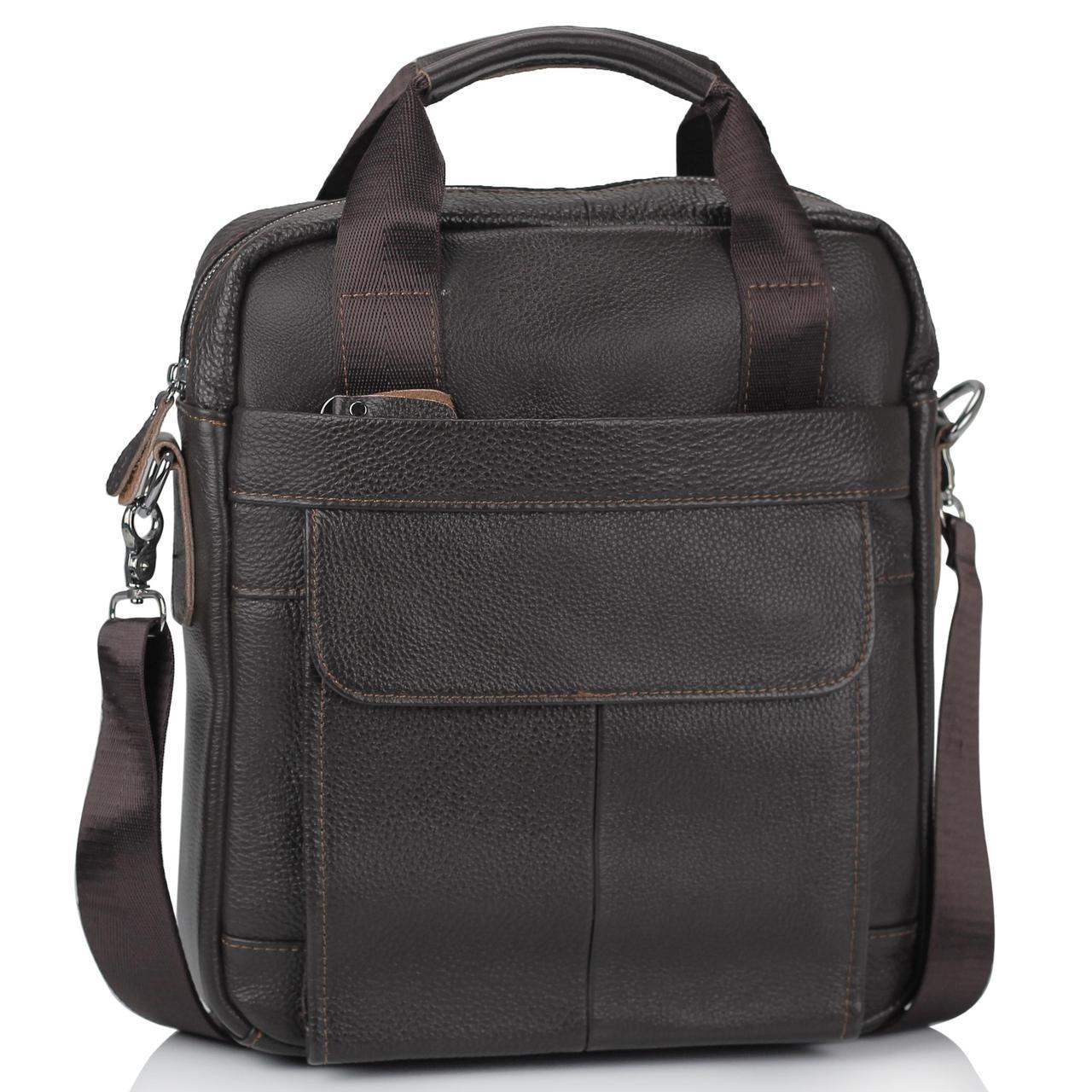 Сумка через плечо кожаная мужская Tiding Bag M38-8861DB