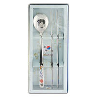 Корейский столовый набор «Палочки и ложка»