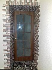 Декоративная 3D панель самоклейка под кирпич серо-синий Екатеринославский 700x770x5мм, фото 3