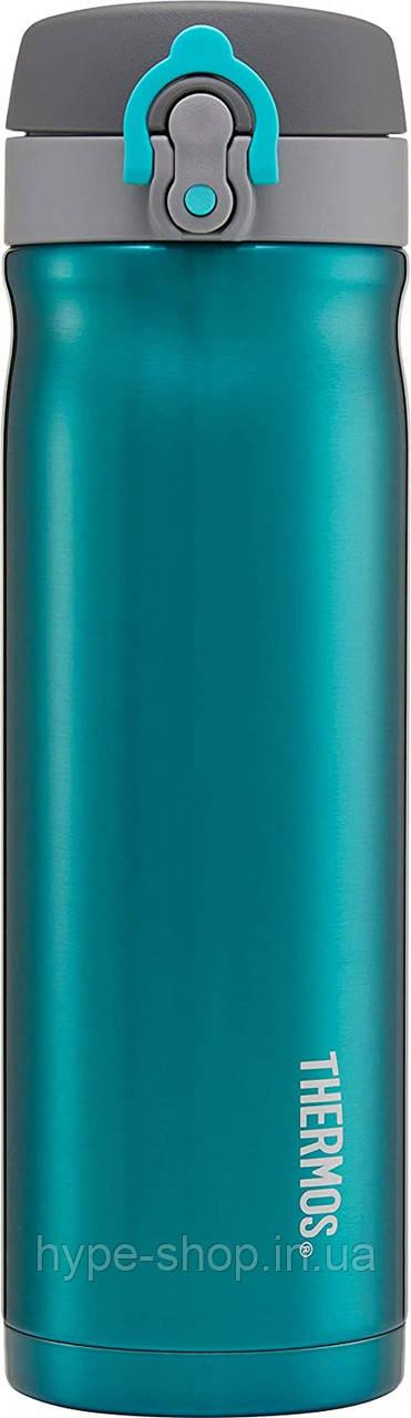 Термос фляга Thermos для напитков, бирюзовая, 470 мл