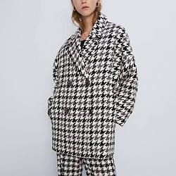 Пальто женское двубортное Ornament Berni Fashion (S)