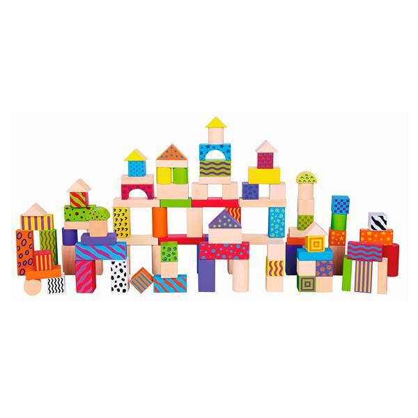 Деревянные кубики Viga Toys Узорчатые блоки 100 шт., 3 см (59696)