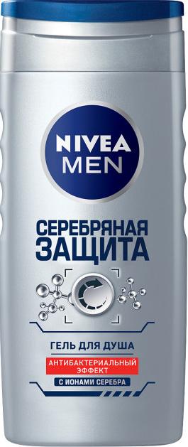 """Гель для душа мужской Nivea """"Серебряная защита"""" (250мл.)"""