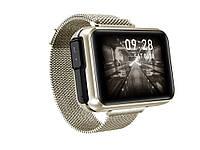 Опт. Умные часы Lemfo Bluetooth Наушники пульсометр измерение давления Золотой