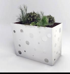 Решетка для кондиционера антивандальная ArtMetalGroup Koral Stand Flowers (сталь 2 мм, 500х950х990 мм)