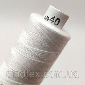 Белая нитка 40/2 100% полиэстер 400м (УТОС-Б-02)