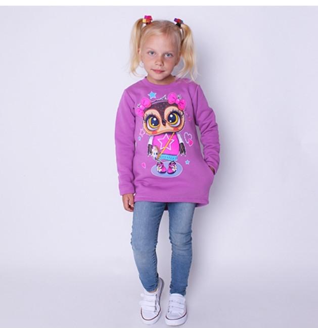 Детская Туника с карманами  Сова