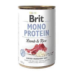 Влажный корм для собак Brit Mono Protein Lamb & Rice 400 г (ягнёнок и рис)