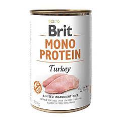 Влажный корм для собак Brit Mono Protein Turkey 400 г (индейка)