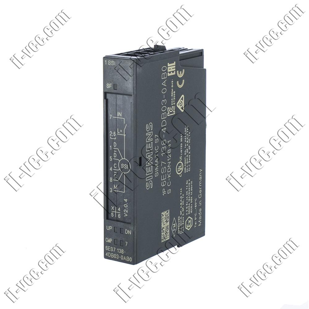 Модуль SSI датчика Siemens 6ES7 138-4DB03-0AB0, 1SSI 256bit/1MHz