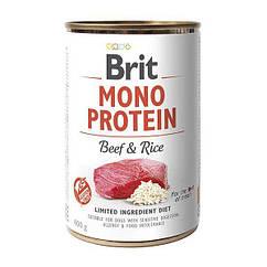 Влажный корм для собак Brit Mono Protein Beef & Rice 400 г (говядина и рис)