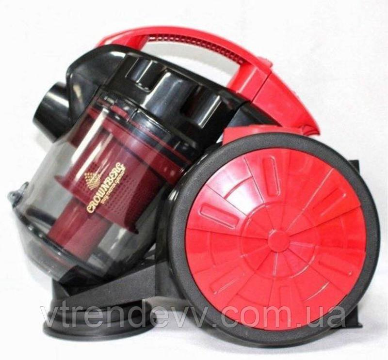 Пылесос электрический без мешка Crownberg CB-0110 2400W Red