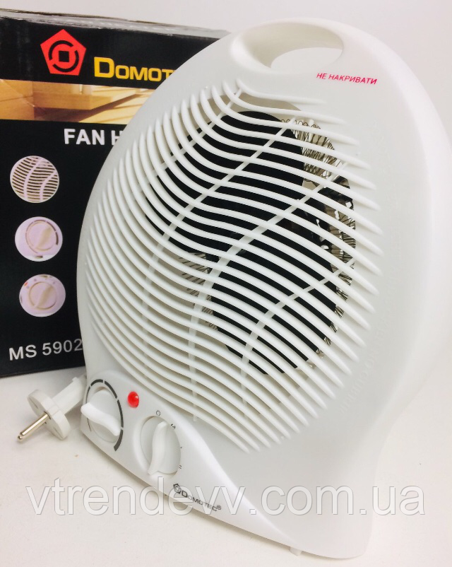 Тепловентилятор з терморегулятором Domotec MS-5902 1000/2000W