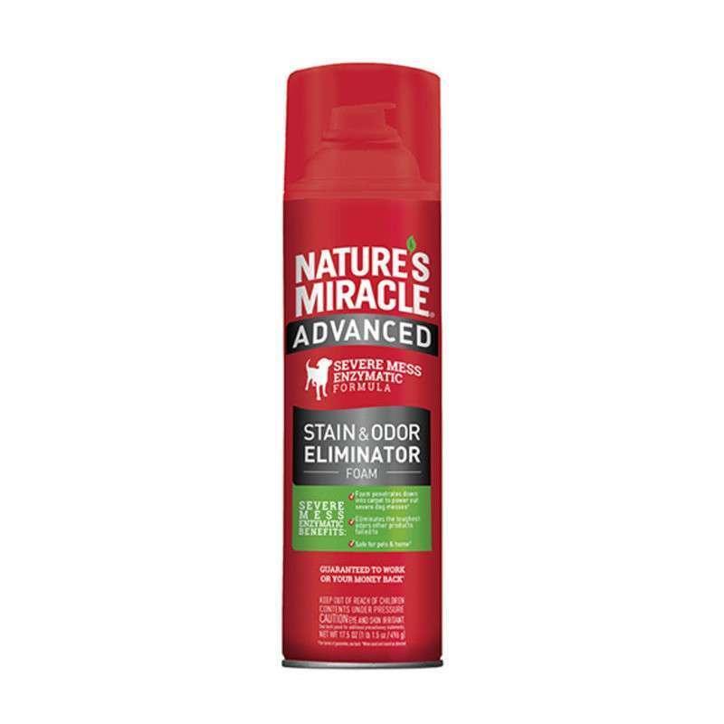 Nature's Miracle Stain&Odor Eliminator Foam - уничтожитель пятен и запахов собак с усиленной формулой