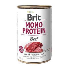 Влажный корм для собак Brit Mono Protein Beef 400 г (говядина)