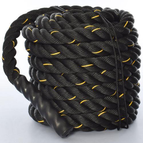 Канат для кроссфита, боевой канат (3249-3) Черный 15 м.
