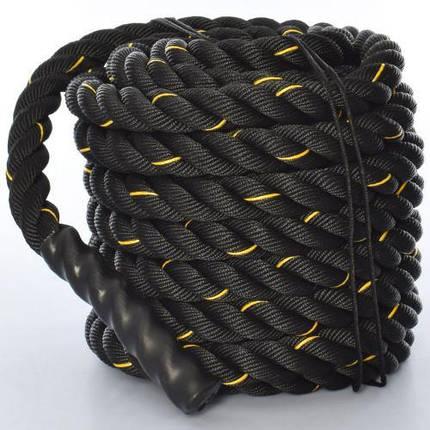 Канат для кроссфита, боевой канат (3249-3) Черный 15 м., фото 2