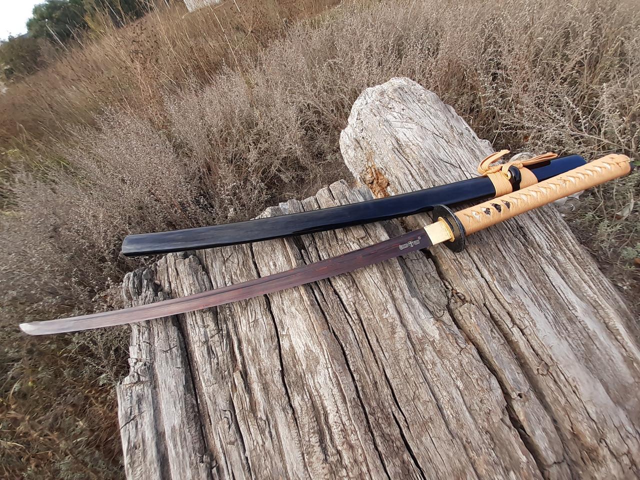 Самурайский меч катана дамаск  ,подставка и чехол