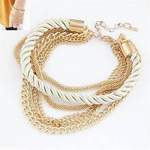 Стильний металевий браслет з мотузочкою
