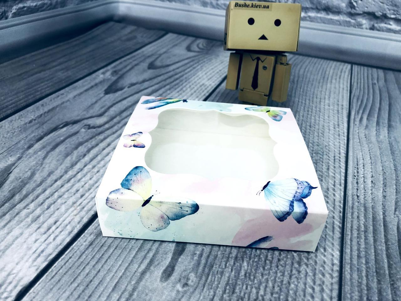 *50 шт* / Коробка для пряников / 120х120х30 мм / печать-Акварель / окно-обычн / лк