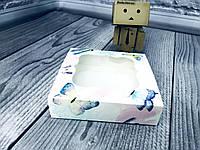 *50 шт* / Коробка для пряников / 120х120х30 мм / печать-Акварель / окно-обычн / лк, фото 1