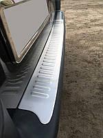 Opel Vivaro 2001-2015 рр. Накладки на задній бампер Матова (Omsa, нерж.)