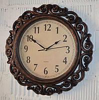 """Фігурний настінний годинник """"Bronze"""" (40 см.), фото 1"""