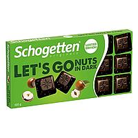 Шоколад темний с фундуком Schogetten Let's Go Nuts in Dark 100 г