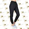 Утеплені жіночі брюки на манжеті чорна трехнитка на флісі, фото 3