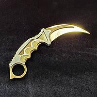"""Деревянный нож игрушка """"Керамбит"""" (Золото) из CS GO"""
