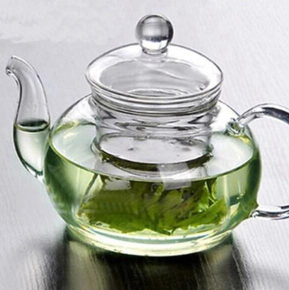 Заварочный стеклянный чайник со стеклянным ситечком HLS 600 мл (6806)
