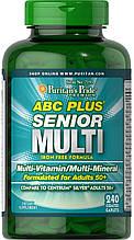 Витамины 50+ ABC Plus® Senior Multivitamin Multi-Mineral Formula 240 каплет