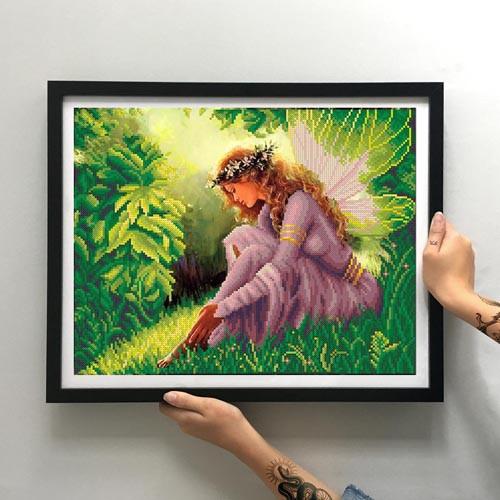Картина Лесная фея ММФ-002 [Материал: Габардин подклеенный флизелином]
