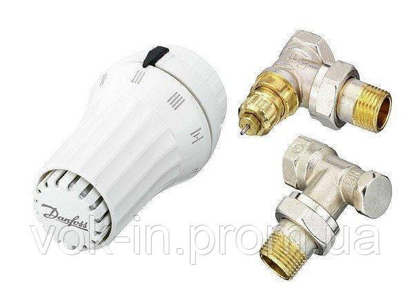 """Комплект термостатический Danfoss 013G2229 RAS - C2 + RA - FN + RLV 1/2"""", фото 2"""