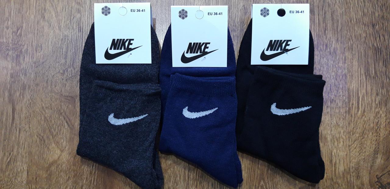"""Шкарпетки жіночі(підліткові) з махрової стопою,в стилі""""Nike A"""" Туреччина Високі 36-41"""