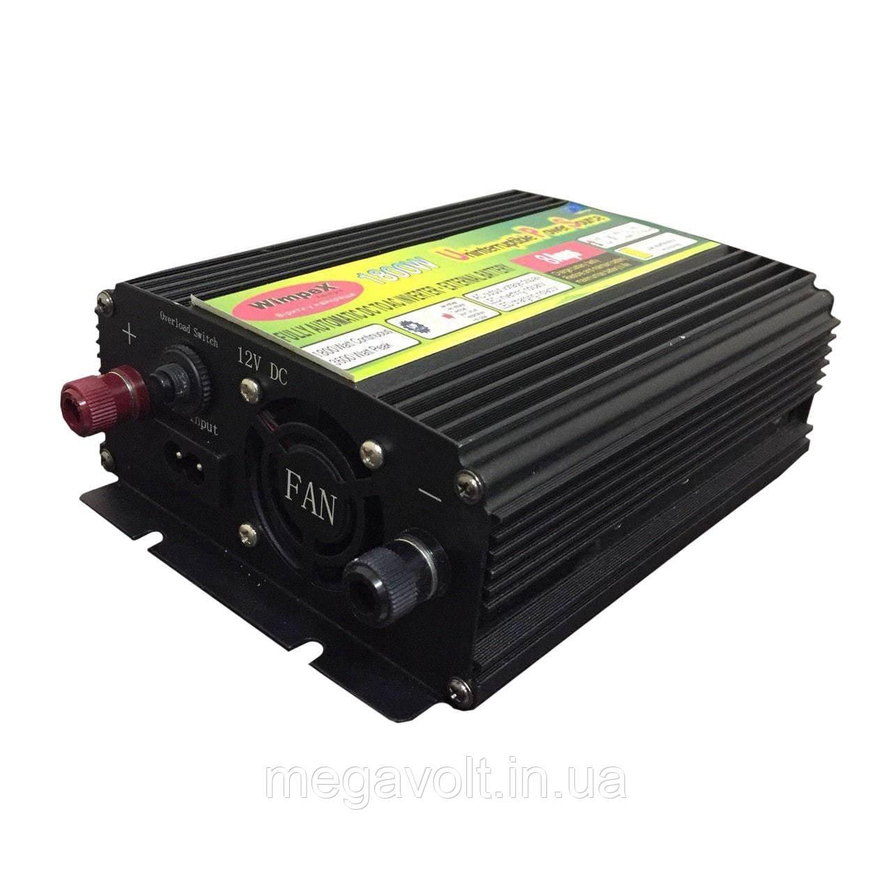 Преобразователь с зарядным устройством 12v-220v 1800W (бесперебойник) UPS UKC