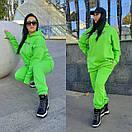 Яркий женский спортивный костюм : удлиненное худи и штаны в больших размерах 41spt1127, фото 4