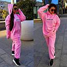 Яркий женский спортивный костюм : удлиненное худи и штаны в больших размерах 41spt1127, фото 7