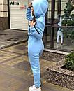 Женский комбинезон на флисе с капюшоном и молнией спереди, на талии кулиска 38spt1151, фото 6
