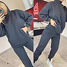 Женский спортивный костюм из трехнитки на флисе с карманами и капюшоном (р. 42-52) 11spt1152, фото 6