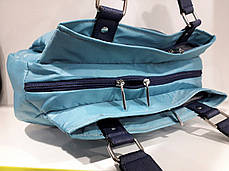 Cумка женская бирюзовая тканевая три одела на змейках Dolly 477, фото 2