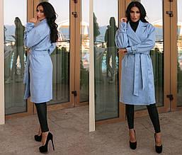 Пальто демісезонне кашемірове на запах на підкладці, кольори в асортименті Р-н. 46,48,50,52 Код 1109В
