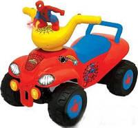 Детский толокар квадроцикл KiddieLand Спайдермен Красный