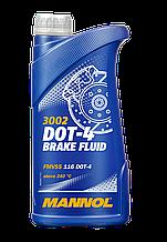 Тормозная жидкость MANNOL DOT-4 (1л)
