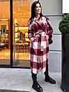 Женская длинная рубашка клетчатая теплая фланелевая (р. 42-46) 22bir424, фото 5