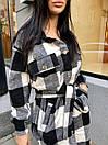 Женская длинная рубашка клетчатая теплая фланелевая (р. 42-46) 22bir424, фото 7