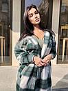 Женская длинная рубашка клетчатая теплая фланелевая (р. 42-46) 22bir424, фото 8