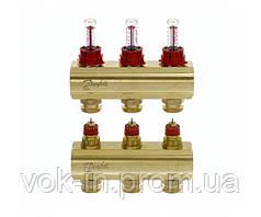 Колектор з витратоміром 3 виходи DANFOSS FHF-3F 088U0523