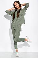 Спортивный костюм с укороченными брюками 151P002 (Оливковый)